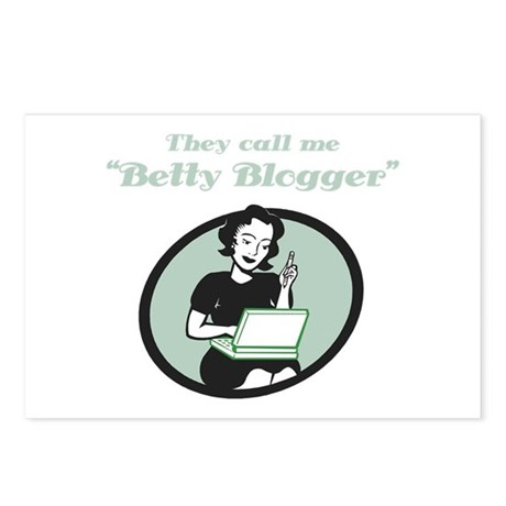 Betty Blogger Lady Postcards (Package of 8)
