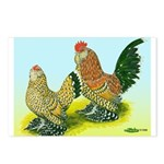 Mille Fleur Rooster & Hen Postcards (Package of 8)