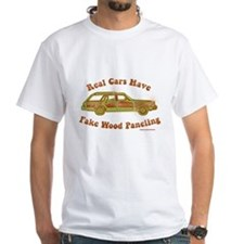 Fake wood panelling T-Shirt