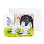 Porcelain d'Uccle Rooster and Greeting Card