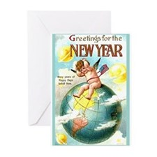 Happy New Year #1 Greeting Cards (Pk of 10)