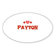 Payton Oval Decal