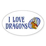 Dragon Oval Sticker