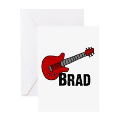 Guitar - Brad Greeting Card