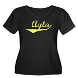 Ayla Vintage (Gold) Women's Plus Size Scoop Neck D