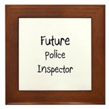 Future Police Inspector Framed Tile