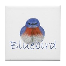 bluebird design Tile Coaster