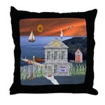 The Fisherman's Cottage Throw Pillow