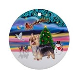 Xmas Magic & Silky #9 Ornament (Round)