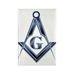 The Blue Masonic Lodge Rectangle Magnet (100 pack)