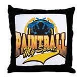 Paint Ball My Sport Throw Pillow
