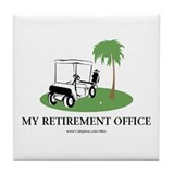 Golf Retirement Tile Coaster