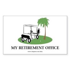 Golf Retirement Rectangle Decal
