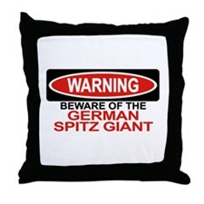 GERMAN SPITZ GIANT Throw Pillow