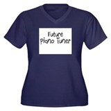 Future Piano Tuner Women's Plus Size V-Neck Dark T