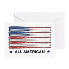 Baseball Flag Greeting Card