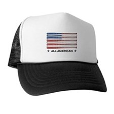 Baseball Flag Trucker Hat
