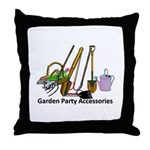 Garden Party Accessories Throw Pillow