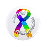 "Autism Puzzle Ribbon 3.5"" Button"
