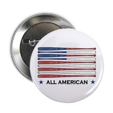 "Baseball Flag 2.25"" Button (100 pack)"