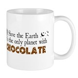 Chocolate Earth Small Mug