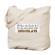 Chocolate Earth Tote Bag