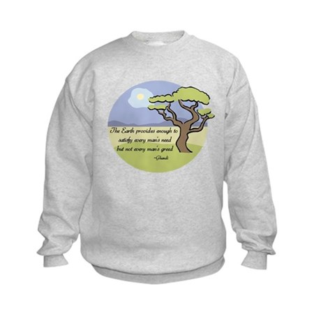 Ghandi Earth quote Kids Sweatshirt