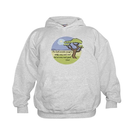 Ghandi Earth quote Kids Hoodie
