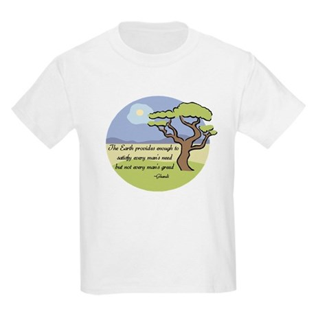 Ghandi Earth quote Kids Light T-Shirt