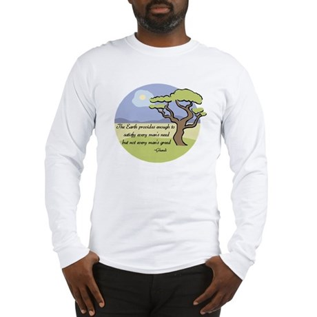 Ghandi Earth quote Long Sleeve T-Shirt
