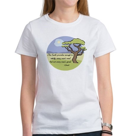 Ghandi Earth quote Women's T-Shirt
