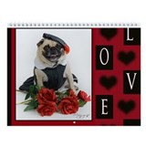 Pug Lover Wall Calendar