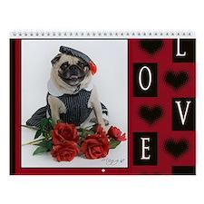 Pug Lover Wall Calendar