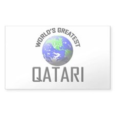 World's Greatest QATARI Rectangle Decal