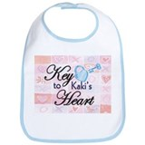 Key to Heart - Kaki Bib