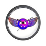 Peace Wing Groovy Wall Clock
