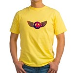 Peace Wing Groovy Yellow T-Shirt