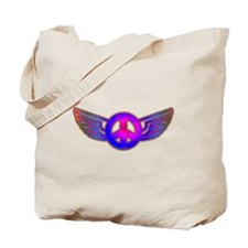 Peace Wing Groovy Tote Bag