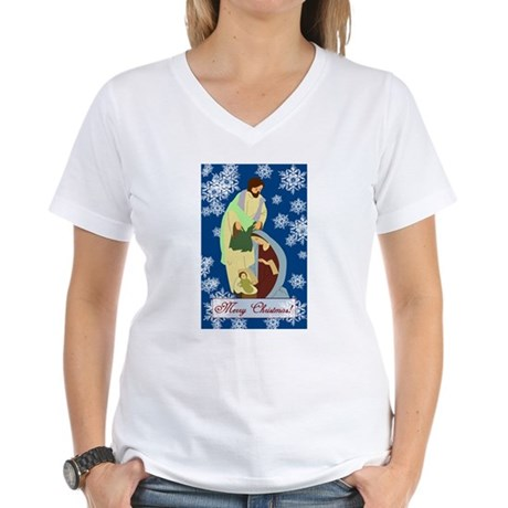 The Nativity Women's V-Neck T-Shirt