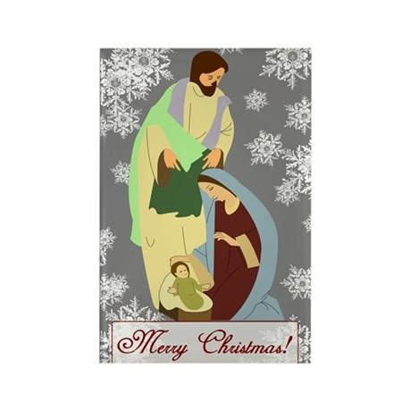 The Nativity Rectangle Magnet (100 pack)