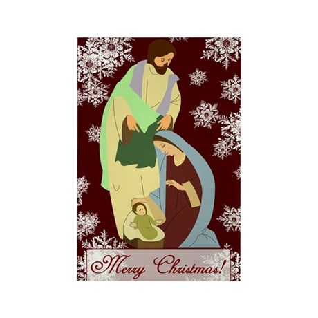 The Nativity Rectangle Magnet (10 pack)