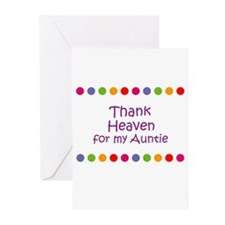 Thank Heaven for my Auntie Greeting Cards (Pk of 1