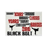 ONE Black Belt 2 Rectangle Magnet