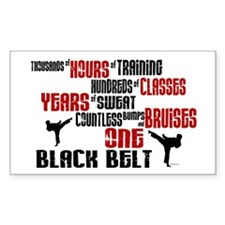ONE Black Belt 2 Rectangle Decal
