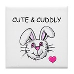 BUNNY FACE Tile Coaster