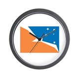 Tierra Del Fuego Flag Wall Clock