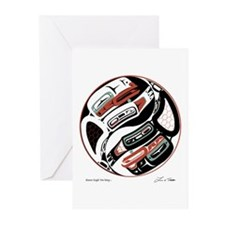 Eagle Raven Yin-Yang Greeting Cards (Pk of 20)
