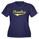Danika Vintage (Gold) Women's Plus Size V-Neck Dar