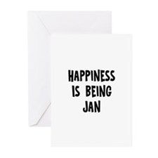Happiness is being Jan Greeting Cards (Pk of 10)