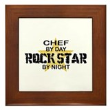Chef RockStar by Night Framed Tile